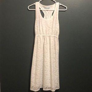 Pretty white lace racer back dress
